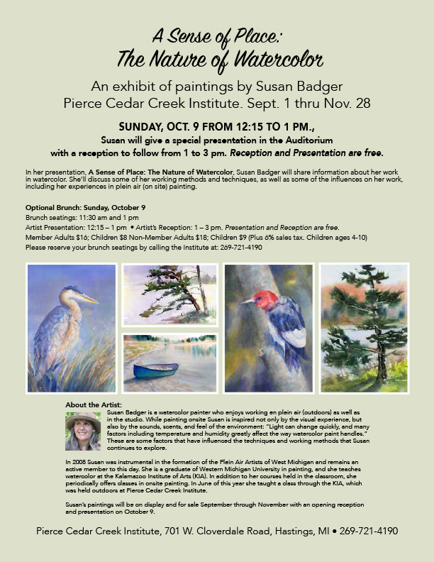 Susan Badger - More info on Exhibition