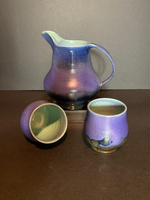 Nancy Payne, ceramic pitcher and cups